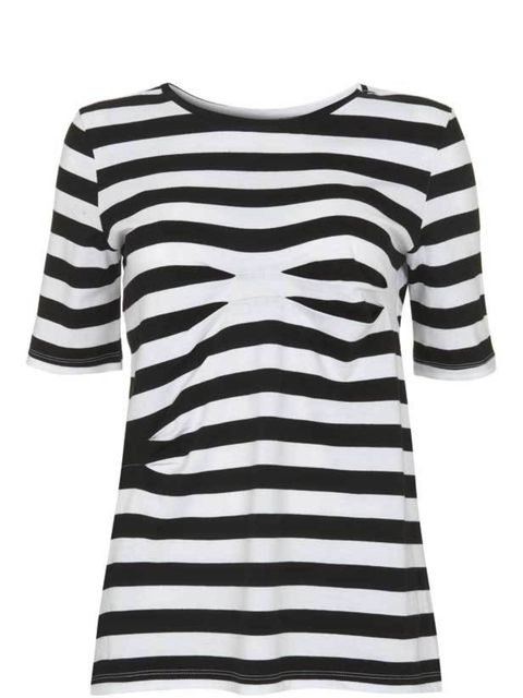 """<p>The latest collaboration to hit Topshop perfectly reflects Ann-Sofie Back's mainline collection with ruffles, sheer pieces and twisted fabrics. This contorted Breton stripe tee is our favourite. Ann-Sofie Back T-shirt, £50, at <a href=""""http://www.topsh"""