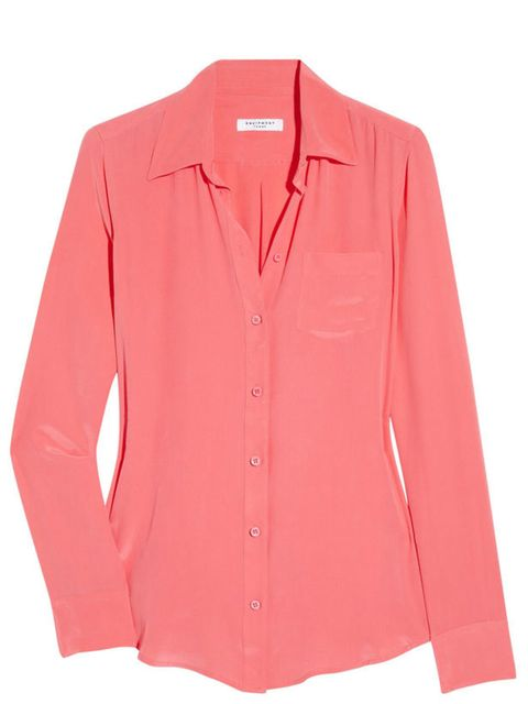 "<p>Equipment 'Hard Feelings' crepe shirt, £210, available from <a href=""http://www.net-a-porter.com/product/113228"">Net-A-Porter</a></p>"