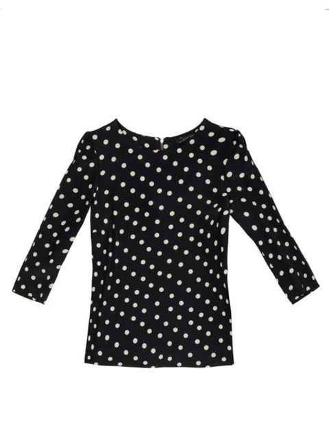 "<p>Polka dots are one of our favourite year-round prints so wear this top with a leather skirt now, or chinos come spring… <a href=""http://www.zara.com/webapp/wcs/stores/servlet/product/uk/en/zara-S2011/61142/298512/TOP%2BWITH%2BGATHERED%2BSHOULDERS"">Zara"