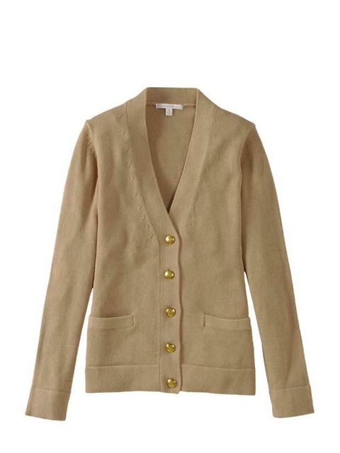 """<p><a href=""""http://shop.uniqlo.com/uk/goods/067416"""">Uniqlo</a> cotton v-neck cardigan, £24.99</p>"""
