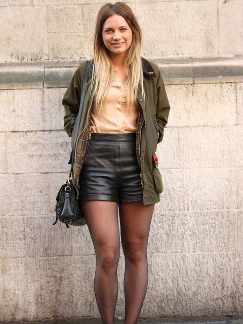 <p>Photo by Silvia Olsen.Josephine, 21, Shop Assistant. Barbour jacket, Topshop blouse, shorts, shoes &amp&#x3B; bag. </p>