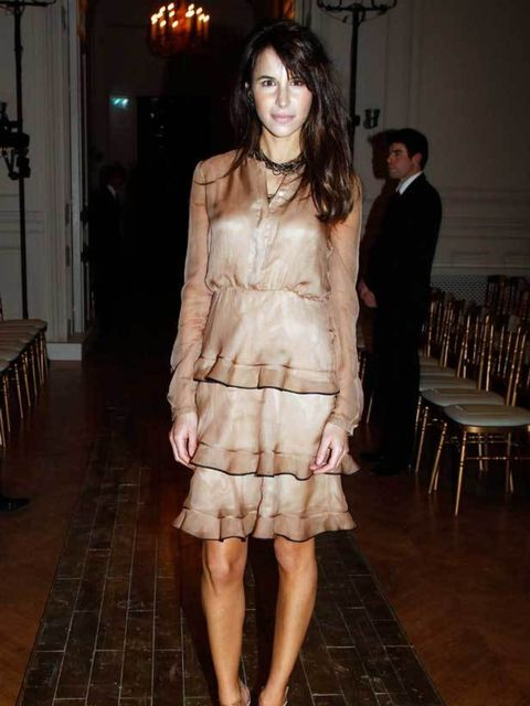 """<p><a href=""""http://www.elleuk.com/starstyle/style-files/%28section%29/caroline-sieber"""">Caroline Sieber</a> at the <a href=""""http://www.elleuk.com/catwalk/collections/valentino/spring-summer-2011/collection"""">Valentino</a> Couture Show in Paris, 26 January 2"""