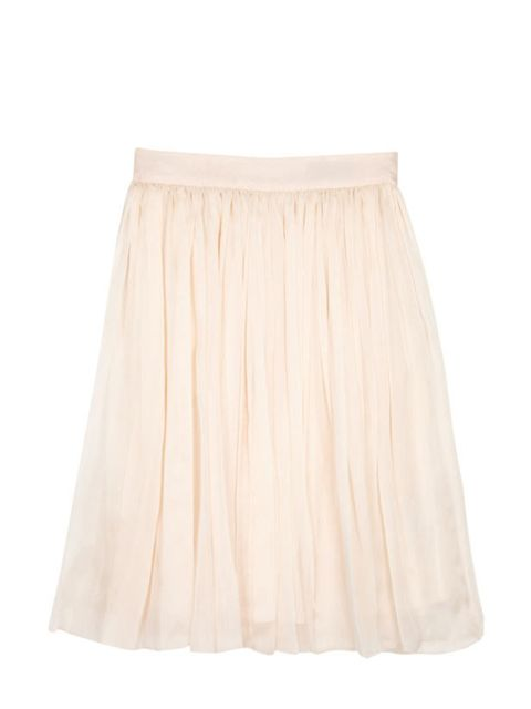 "<p>D&G blush hand-ironed pleated swing skirt, £290, at <a href=""http://www.my-wardrobe.com/d-g/blush-hand-ironed-pleated-skirt-201116"">My Wardrobe</a></p>"