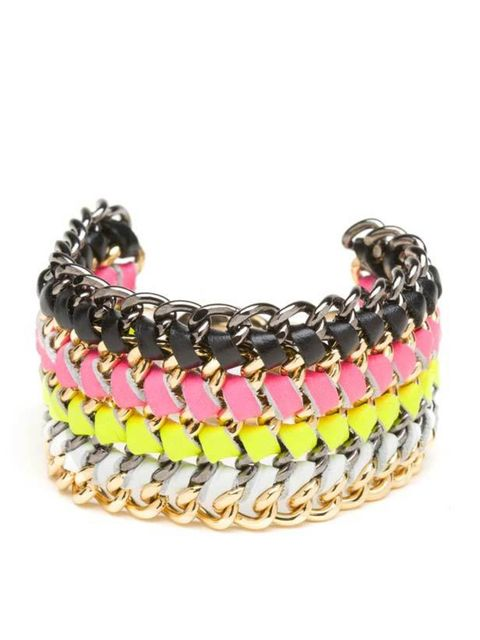 "<p> </p><p>Neon is set to be a huge trend come spring so get in on the act early and add an instant hit of colour to February's dark clothes… CC Skye neon bracelet, £110, at <a href=""http://www.oxygenboutique.com/product/oxygen/cc-skye-lindsey-bracelet---"