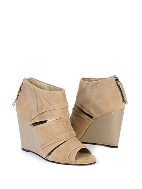 "<p>Carvela taupe wedge boots, £140, at <a href=""http://www.selfridges.com/en/Accessories/Asterix-ankle-boots-taupe_854-10004-1770447239/"">Selfridges</a> </p>"