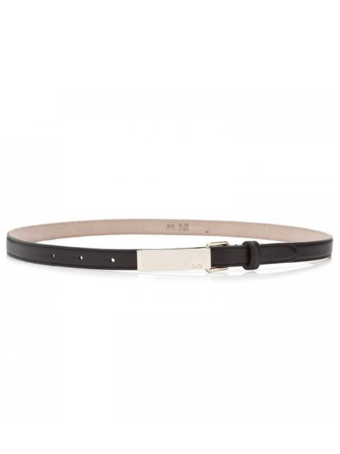 "<p>D&G skinny plaque belt, £105, at <a href=""http://www.harveynichols.com/womens/categories/designer-accessories/belts/s354747-skinny-plaque-belt.html?colour=BLACK"">Harvey Nichols</a></p>"