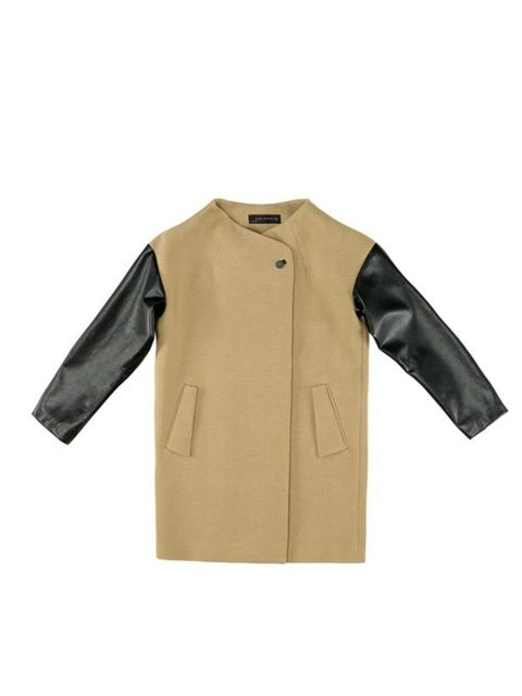 """<p><a href=""""http://www.zara.com/webapp/wcs/stores/servlet/product/uk/en/zara-S2011/61134/289030/STUDIO%2BCOAT%2BWITH%2BCOMBINATION%2BSLEEVE""""> </a></p><p>You can't go wrong with leather or camel so invest in this stand-out staple to see you through seasons"""