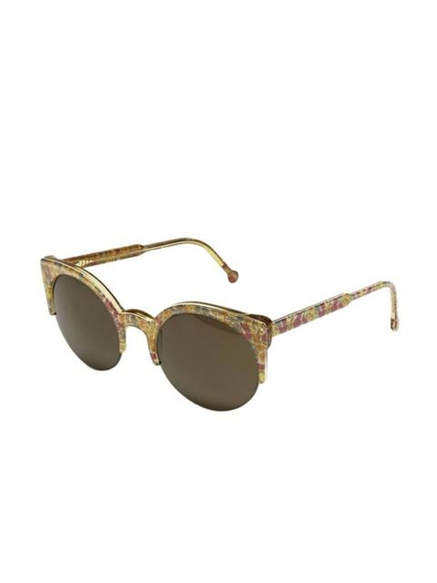"""<p> </p><p> </p><p>With its retro shape and timelessly feminine print, this latest collaboration with Liberty will be perfect for hazy, sun-drenched days… RetroSuperFuture printed sunglasses, £130, at <a href=""""http://www.liberty.co.uk/fcp/product/Liberty/"""