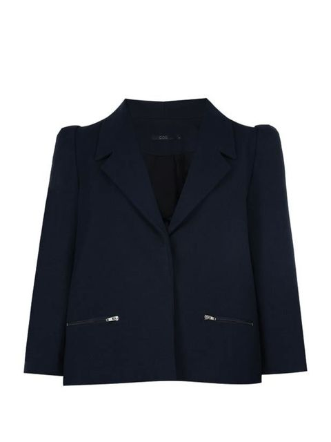 <p>Cos navy jacket, £99, for stockists call 020 7478 0400</p>