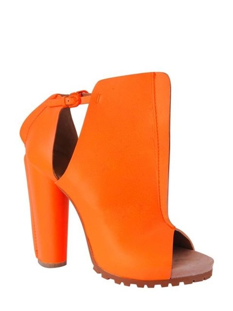 <p>Cacharel orange leather boots, £345, at Harvey Nichols, for stockists call 0207 235 5000 </p>