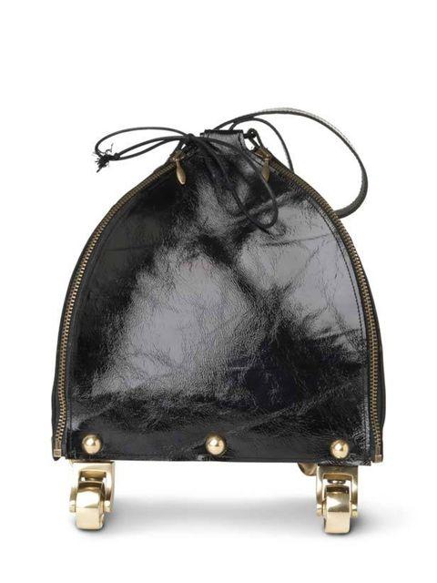 "<p>Kei Kagami drawstring wheel bag, £320, at <a href=""http://www.selfridges.com/en/Accessories/Categories/Handbags/Shoulder/Wheeled-drawstring-bag_133-3002085-B606/"">Selfridges</a> </p>"