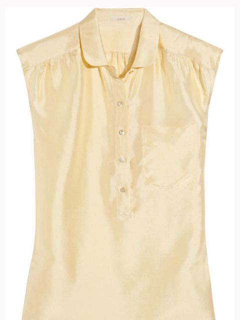 "<p>J.Crew silk-taffeta blouse, £70, at <a href=""http://www.net-a-porter.com/product/112649"">Net-a-Porter</a></p>"