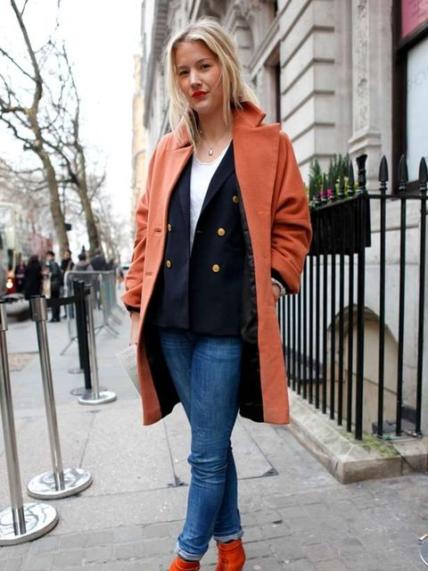 <p>Photo by Jessica Weber @ Anthea Simms.Janina Boss, 25, PR. Dagmar coat, Intermix blazer, H&amp;M jeans, Swedish Hasbeen.</p>