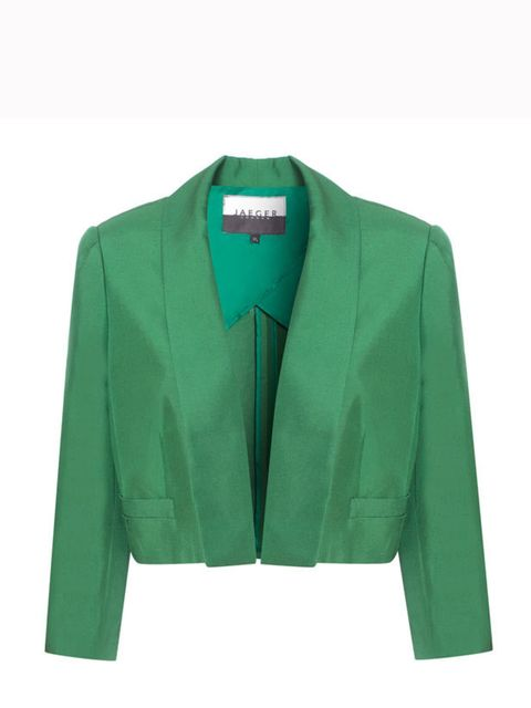 <p>Jaeger cropped jacket, £199, for stockist information call 0845 051 0063 </p>
