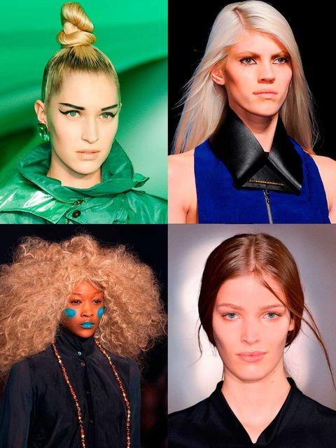 <p>Paris Fashion Week was full of bonkers and brilliant Couture-esque hairstyles. On the flipside there were wearable and incredibly cool hairstyles you'll want to create at home. Here's the lowdown on all the looks...</p>
