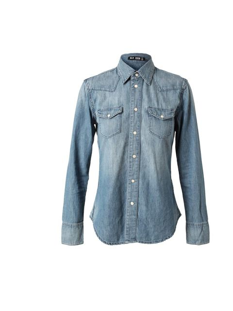 """<p>We're going to let you into our little shopping secret: BLK DNM is the fashion pack's go-to for classic staples. And now we've got our sights on <em>the </em>denim shirt. (Read more about the brand in the <a href=""""http://itunes.apple.com/gb/app/elle-ma"""