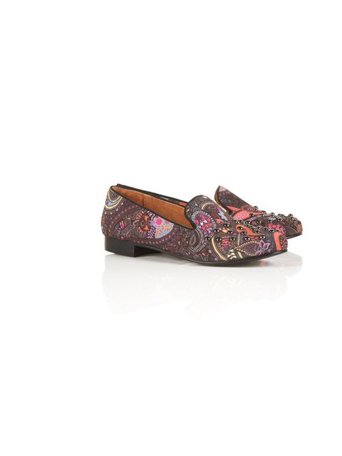 "<p>Topshop studded paisley smoking slippers, £55</p><p><a href=""http://shopping.elleuk.com/browse?fts=topshop+dandy+slippers"">BUY NOW</a></p>"