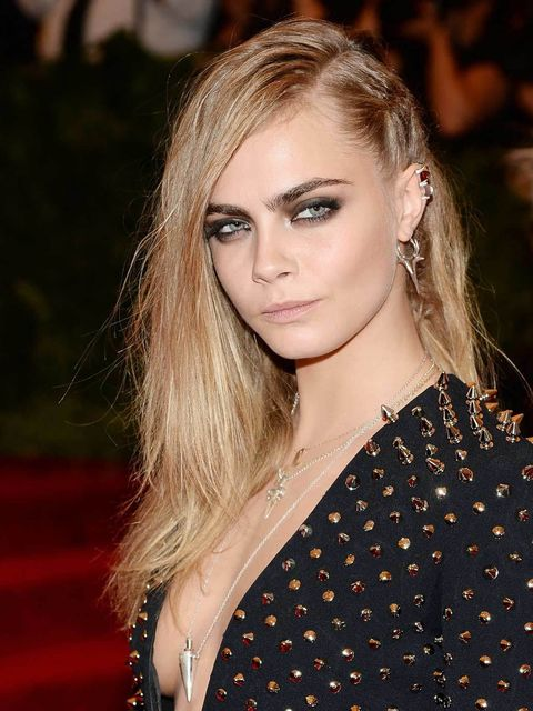 "<p><strong><a href=""http://www.elleuk.com/star-style/celebrity-style-files/cara-delevingne-model-of-the-year-2012"">Cara Delevingne</a></strong></p><p>In a sea of black smoky eyes Cara's almond-shaped was at the top of our list. Just the right mix of punk"