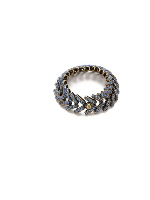 "<p>Giles &amp; Brother herringbone bracelet, £170.15, <a href=""http://www.shopbop.com/wide-ceres-bracelet-giles-brother/vp/v=1/1568669511.htm?folderID=2534374302034250&amp;fm=other-shopbysize-viewall&amp;colorId=48493"">www.shopbop.com</a></p>"