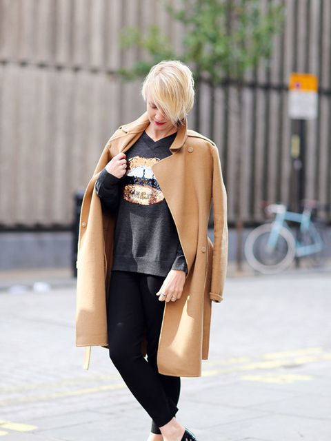 <p>Lorraine Candy - Editor-in-Chief Joseph coat and trousers, Marcus Lupfer jumper, Christian Louboutin brogues.</p>