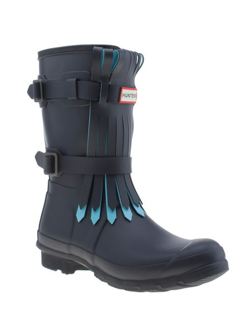 """<p>Hunter boot, £130 at <a href=""""http://www.schuh.co.uk/womens/hunter-original-short-fringe-navy-and-pl-blue-boots/1458145460/"""" target=""""_blank"""">schuh.co.uk</a></p>"""