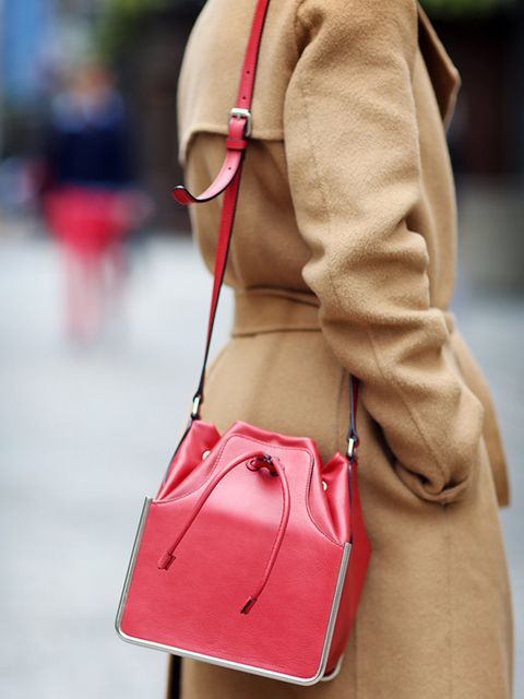 Lorraine Candy, Editor-in-Chief  Joseph coat and Carven bag.
