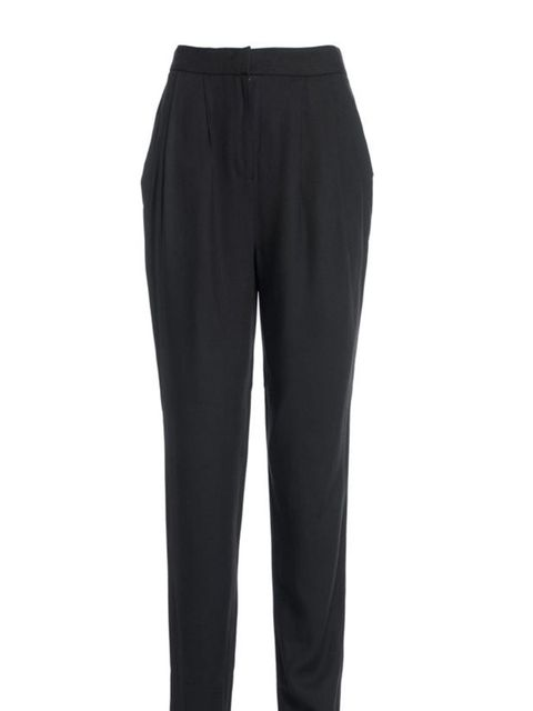 "<p>THE BLACK TROUSERS</p><p><a href=""http://www.reissonline.com/shop/womens/casual_trousers/gilda/black/"">Reiss</a> clasic black trousers, £110</p>"