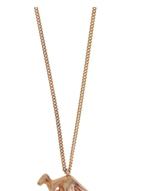 """<p>A rose gold dinosaur necklace? What's not to love? We want... Spanner and Wingnut rose gold necklace, £180, at <a href=""""http://www.kabiri.co.uk/jewellery-1/dinosaur-rose-gold-long-chain-necklace.html"""">Kabiri</a></p>"""