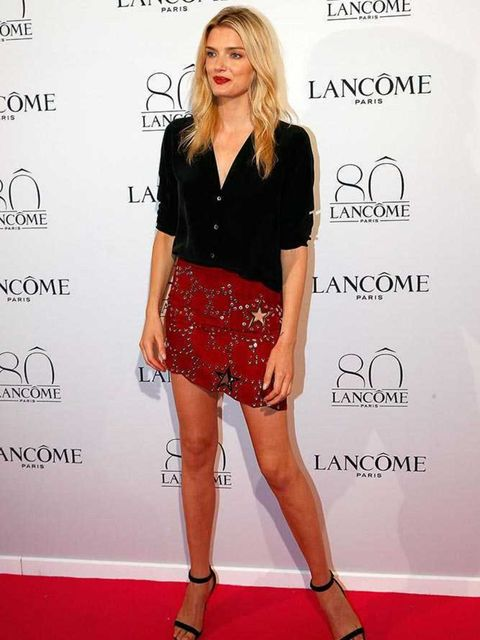 Lily Donaldson attends the Lancôme 80th Anniversary celebration during the Paris Haute Couture a/w 2015 shows in Paris, July 2015.