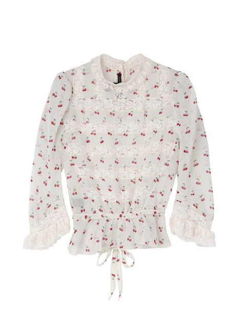 "<p><a href=""http://www.veryexclusive.co.uk/marc-by-marc-jacobs-cherry-pin-dot-voile-victoriana-blouse-white/1600039895.prd"" target=""_blank"">Marc by Marc Jacobs</a> blouse, £345</p>"