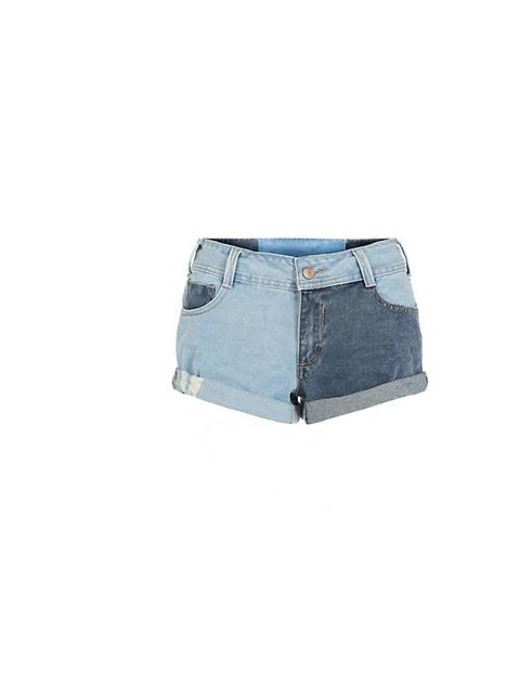 "<p>Denim shorts are always a must have. Get these New Looks<a href=""http://www.newlook.com/shop/womens/trousers-and-shorts/blue-colour-block-turn-up-demim-shorts-_296393245""> Colour Block Turn Ups</a>, £19.99, for a spin on the classic.</p>"