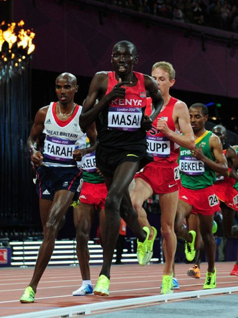 <p>Nike's neon yellow shoes grab attention during the 10,000m race</p>