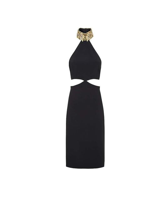 """<p>Similar to the black design Kate Hudson wore last year, this Alexander McQueen dress, £2,250, is available at <a href=""""http://www.harrods.com/product/jewel-collar-cut-out-dress/alexander-mcqueen/000000000003619151?cat1=bc-alexander-mcqueen&cat2=bc-"""