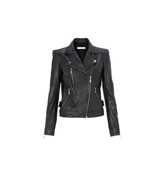 "<p><a href=""http://www.whistles.co.uk/fcp/categorylist/dept/shop?resetFilters=true"">Whistles</a> extended shoulder leather jacket, £295</p>"