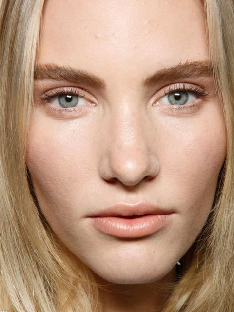 "<p>Soft flesh tones stole focus (or rather, didn't) during PFW this season, with make-up artists looking to the soft, plumping properties of shades of milky tea, cappuccino and peach. At Hakaan, <a href=""http://www.elleuk.com/catwalk/collections/chloe/"">C"