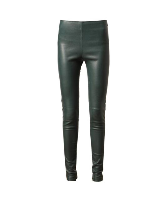 """<p>Balenciaga green leather trousers, £995, at Browns</p><p><a href=""""http://shopping.elleuk.com/browse/women?fts=balenciaga+green+leather+trousers"""">BUY NOW</a></p>"""