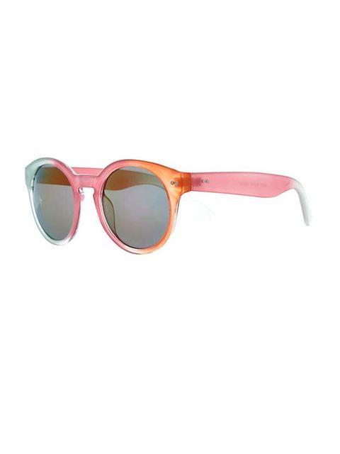 "<p>Why have one colour when you can have 3..?</p><p>Tonal pink orange sunglasses £10 by<a href=""http://www.riverisland.com/women/sunglasses/retro-sunglasses/Pink-colour-block-round-retro-sunglasses-648003""> River Island </a></p>"