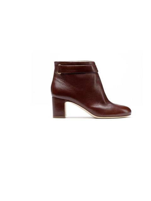 <p>Rupert Sanderson 'Sargon' ankle boot in red, £625, For stockists call 0207 491 2220</p>