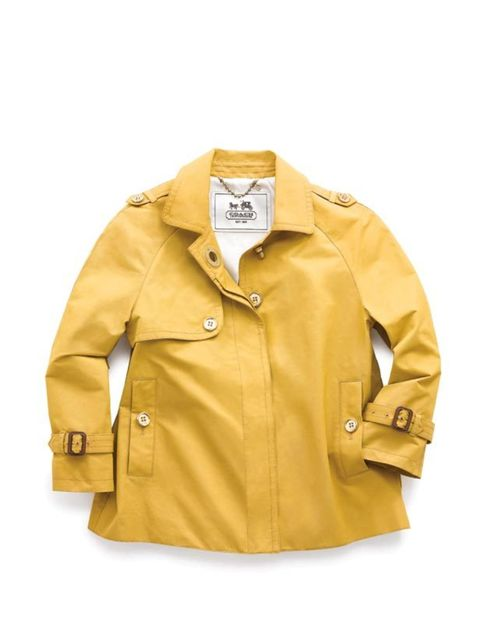 <p> </p><p>Reed Krachoff's hit American label has just landed on English shores and among the cult handbags is a jacket perfect for Spring's showers... Coach yellow swing coat, £475, for stockists call 0203 141 8900</p>