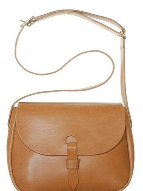 "<p><a href=""http://www.mimiberry.co.uk/collection/ladies_bags/745_mimi-2011-s-s-classic-little-peggy"">Mimi Berry</a> tan satchel, £202</p>"