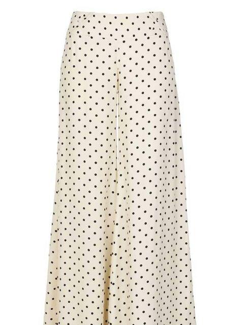 """<p>Palazzo pants are rivalling flared jeans for the most on-trend trouser shape of the season so get in on the act early with this pretty printed pair… <a href=""""http://www.riverisland.com/Online/women/trousers--leggings/smart-trousers/cream-polka-dot-pala"""