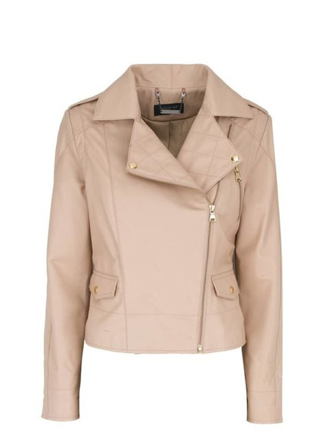 """<p>We can't imagine life without a leather jacket but black styles can be a bit harsh for spring. M&S has found the answer with this peachy style… <a href=""""http://www.marksandspencer.com/Coats-Jackets-Womens/b/43109030?ie=UTF8&intid=gnav_women_coa"""