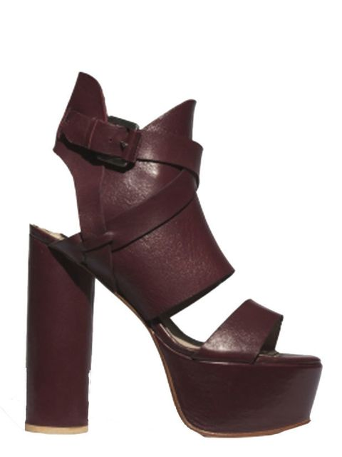 "<p><a href=""http://www.surfacetoair.com/store/?pg=style&amp&#x3B;collection_id=43&amp&#x3B;style_id=18"">Surface to Air</a> buckled leather and suede wedge sandal, £330</p>"