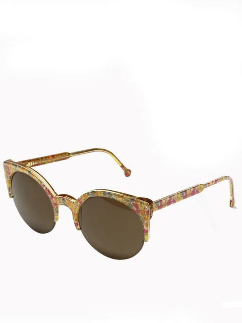 "<p>RetoSuperFuture poppy & daisy Liberty print sunglasss, £130, at <a href=""http://www.liberty.co.uk/fcp/product/Liberty/Fashion-Accessories/Poppy-&-Daisy-Retro-Lucia-Liberty-Print-Sunglasses,-RetroSuperFuture/61188"">Liberty</a></p>"