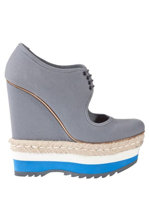 <p>Prada canvas wedges, £510, for stockists call 0207 399 2044</p>