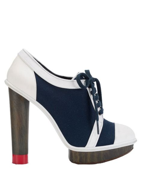 <p>Tommy Hilfiger navy & white shoe boot, £165, for stockists call 0207 479 7550 </p>