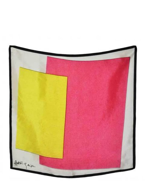 <p> </p><p> </p><p>This season's colour blocking trend can be translated through accessories too - just like this timeless silk scarf. Antoni & Alison colour block sacrf, £68, for stockists call 0207 833 2002</p>