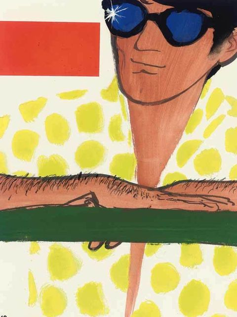 <p>A piece created for cover art in 1964, by the renowned illustrator René Gruau (1909-2004), who created some of the most iconic fashion images of the 20th century.</p><p>?</p>