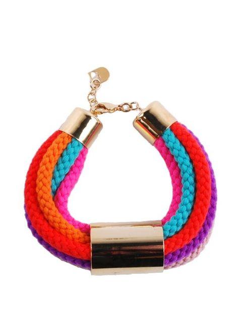 <p>Sabrina Dehoff multi-coloured rope bracelet, £118, at Goodhood</p>