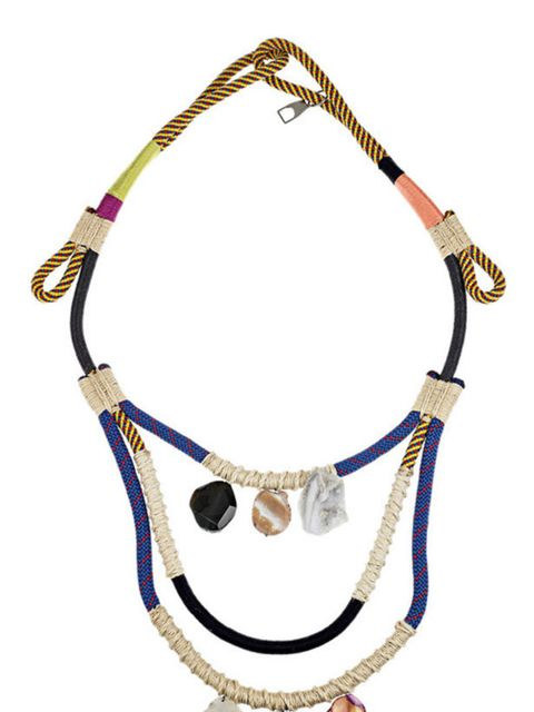 <p>Proenza Schouler opal-embellished rope necklace, £450, at Net-a-Porter</p>